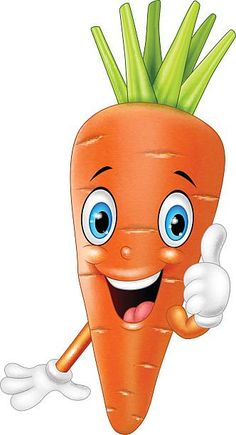 Cartoon Of A Funny Carrot Clip Art, Vector Images & Illustrations . Art Drawings For Kids, Drawing For Kids, Cute Drawings, Art For Kids, Crafts For Kids, Emoji Images, Cartoon Images, Cartoon Art, Vegetable Cartoon