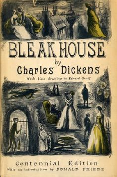Bleak House, Charles Dickens. Cover by Edward Gorey