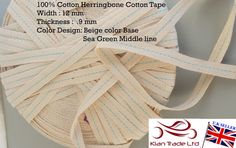 12mm 1/2 cotton Herringbone craft tape sewing apron by UKTWILL