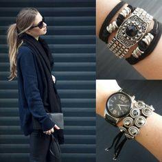 Look inspiração do dia com 2 opções lindas de pulseiras de amarrar! #vício #acessórios #bijoux #pulseiras #bijuterias #fashion #style #accessories