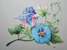 Peinture à l'aiguille réalisée par Yolande C.