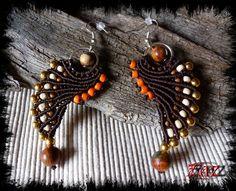 Pegasus Wings macrame earrings https://www.facebook.com/pages/Des-Noeuds-et-des-Pierres/598136326891842?ref=aymt_homepage_panel