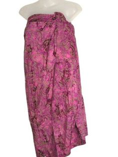 HAWAIIAN PLUS SIZE PINK BATIK HAND PAINTED SARONG