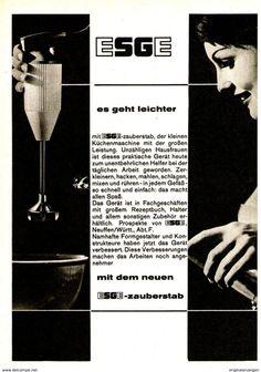 Original-Werbung/ Anzeige 1961 - ESGE ZAUBERSTAB - Ca. 120 X 170 Mm - Werbung