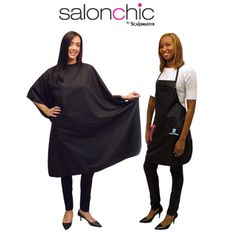 Protect clothes by using this styling cape and salon apron set that are made with nylon and water-resistant material.