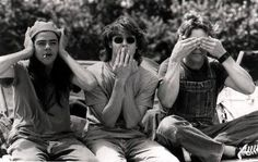 See, hear, speak...no evil....