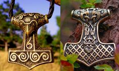 The 'Skanehammer', with it's unique raven head, is the most well known Thor's Hammer worldwide. Here is another nice variety of the classic Mjölnir. http://chstudio.bigcartel.com/products