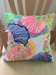 Lilly Pulitzer Pillow Dorm Pillow Sunroom Travel Pillow Big