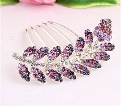 Bling2Bling Multicolor Handcraft Crystal Rhinestones Hairpin Sunflowers Design Hair Comb Hair Clip *** Want additional info? Click on the image. #hairdiva