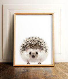Hedgehog print Woodland animals PRINTABLE art Nursery
