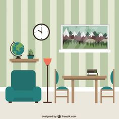 Living room furniture Free Vector