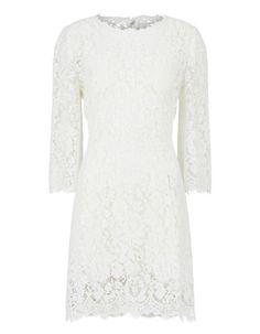 Dolce & Gabbana Short Dress In Solid-Coloured Cordonetto Lace Big Wedding Dresses, Wedding Dress Trends, Designer Wedding Dresses, Bridal Dresses, Short Lace Dress, Short Dresses, Bridal Looks, Bridal Style, Dior Dress