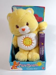 Care Bears FunShine Bear Plush W/VHS Video Tape By Play Along  2002, New In Box #PlayAlong #AllOccasion