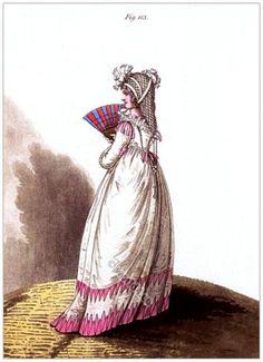 Regency Ranelagh Gardens costume. Italian dress.