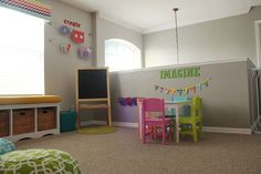 Play room   (I love how it says Read, Imagine & create in the different parts of the room)