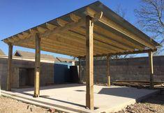 large 6m X 6m wooden pergola, Oversized Pergola, Large Car-port/Smoking Shelter
