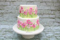 Ranunculus Fields Cake