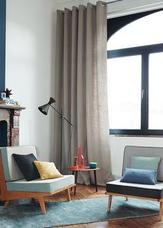 rideau blend collection blooms linen camengo marie claire maison ides rideaux rideaux design - Idee Deco Rideau Salon