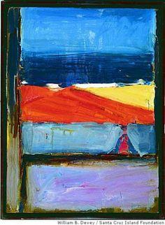 Richard Diebenkorn - View of the Ocean, Santa Cruz Island, 1958