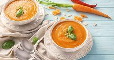 Krémová mrkvová polievka - dôkladná príprava krok za krokom. Recept patrí medzi tie najobľúbenejšie. Celý postup nájdete na online kuchárke RECEPTY.sk. Queso Fresco, Thai Red Curry, Cantaloupe, Grilling, Treats, Homemade, Fruit, Cooking, Ethnic Recipes
