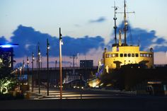 Nordkraft cultural centre in Aalborg, Denmark. Architect:Cubo Arkitektfirmaet Nord - Partners Assistance iGuzzini illuminazione DK - Photographed by Ole Ziegler #iGuzzini #Light #Lighting #experience #ship #yellow