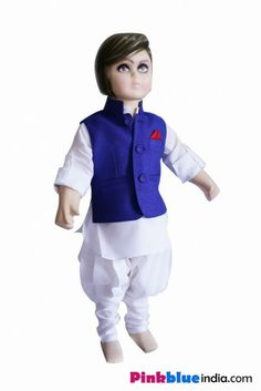 Add to the trousseau of your cute little prince the most stylish in Indian traditional clothing by shopping online the most exclusive and smart white kurta with Churidar Breeches pajama for Indian Kids.