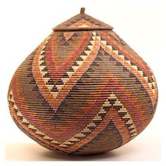 Africa | Zulu Ilala Palm Baskets - Ukhamba | South Africa
