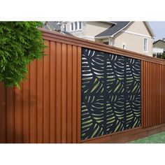 H x 4 ft. W Sprig Screen Fence Panel Xpanse 2 ft. H x 4 ft. W Sprig Screen Fence Panel & Revie Metal Fence Panels, Garden Fence Panels, Garden Fencing, Outdoor Fencing, Lattice Fence, Garden Art, Vinyl Railing, Deck Railings, Diy Design