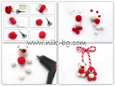 Pinterest Valentines, Valentines Diy, Yarn Crafts, Diy And Crafts, Crafts For Kids, Baba Marta, International Craft, Craft Projects, Projects To Try