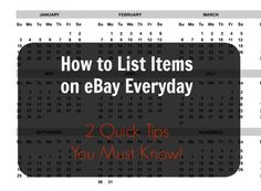 List Items on eBay Everyday - 2 Easy Tips You Must Follow