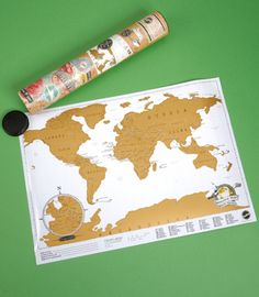 Scratch off travel map. My grandma got me this for christmas, and it's wonderful.