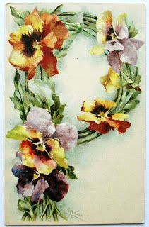 postcardiva postcard blog: Antique Collectible ALPHABET LETTER Postcards