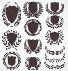 Banner, Laurel, Ribbon & Wreath Vector Images (over Crest Tattoo, Crest Logo, Logo Samples, Smartphone, Laurel Wreath, Poster S, Graduation Photos, Future Tattoos, Coat Of Arms