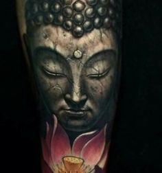 Tatuaje buda Thai Tattoo, Arm Tattoo, 3d Tattoos, Sleeve Tattoos, Buda Tattoo, Geometric Henna, Realistic Tattoo Sleeve, Tatto Love, Shiva Tattoo