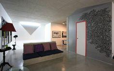 O mobiliário rústico é melhor usado em espaços grandes que não têm grandes mudanças na decoração. Projeto Maxhaus