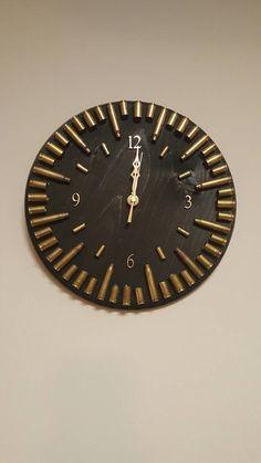Ebony Bullet Casing Clock Ammo Clock Ammo Home Decor Bullet