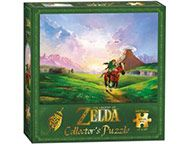 Become a Hero of Time and piece together this epic view of Link riding through Hyrule. This is just one of the 550-piece beautifully rendered puzzles in The Legend of Zelda Puzzle Collection from USAopoly. Collect them all!