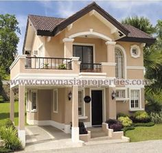 Emmanuel Olivas uploaded this image to 'Crown-Asia-Properties/Valenza'. See the album on Photobucket. Two Story House Design, 2 Storey House Design, Bungalow House Design, House Front Design, Design Your Dream House, Small House Design, House Plans Mansion, Model House Plan, Small House Floor Plans