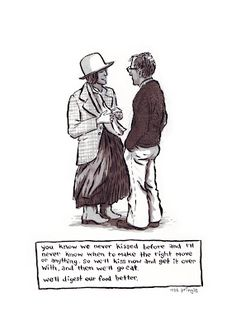 Annie Hall - one of my favs Romantic Things, Beautiful Things, Annie Hall, Best Movie Quotes, Love List, Woody Allen, No One Loves Me, Quotes And Notes, Book Tv