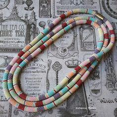 cukierkowy pastelowy sznur Peyote Beading, Friendship Bracelets, Jewelery, Beads, Handmade, Jewerly, Jewlery, Beading, Jewels
