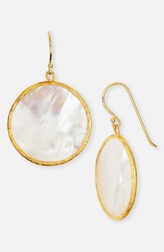 Argento Vivo Mother-of-Pearl Drop Earrings Gold/ Mother Of Pearl