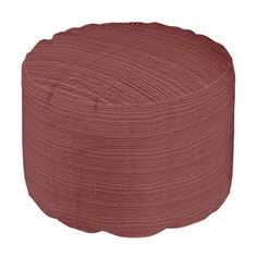 Marsala Wood Grain Color Accent Round Pouf. Pantone Color of the Year 2015: Marsala Designs We Love at Design Connection, Inc.   Kansas City Interior Design http://www.DesignConnectionInc.com/Blog