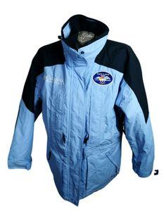 Vintage Columbia Winter Parka Jacket Size L Blue NBC TV Olympics 2002 Womans #Columbia #SkiJacket Nbc Tv, Winter Parka, Olympics, Columbia, Motorcycle Jacket, Online Price, Rain Jacket, Windbreaker, Clothes For Women