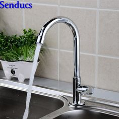 Free shipping Senducs kitchen sink faucet with single handle cold kitchen faucet of deck mounted single cold kitchen mixer tap