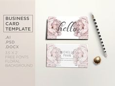 Elegant business card template by Chic templates on @creativemarket