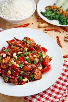 Homemade Kung Pao Chicken - Josh would love me forever (not like he already doesn't but you know . . . )
