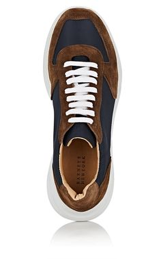 5d84ef7d48056c Barneys Warehouse Chunky-Sole Nylon   Brown Sneakers - New York 10 M Brown  Sneakers