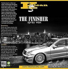 Klean Society Car Care Detailing The finisher Spray Wax