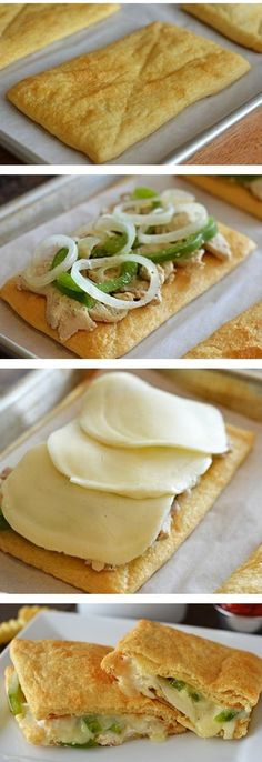 Crescent Chicken Cheesesteaks Recipe