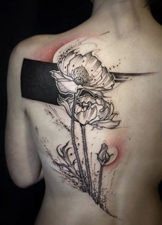 L'oiseau flower tattoo
